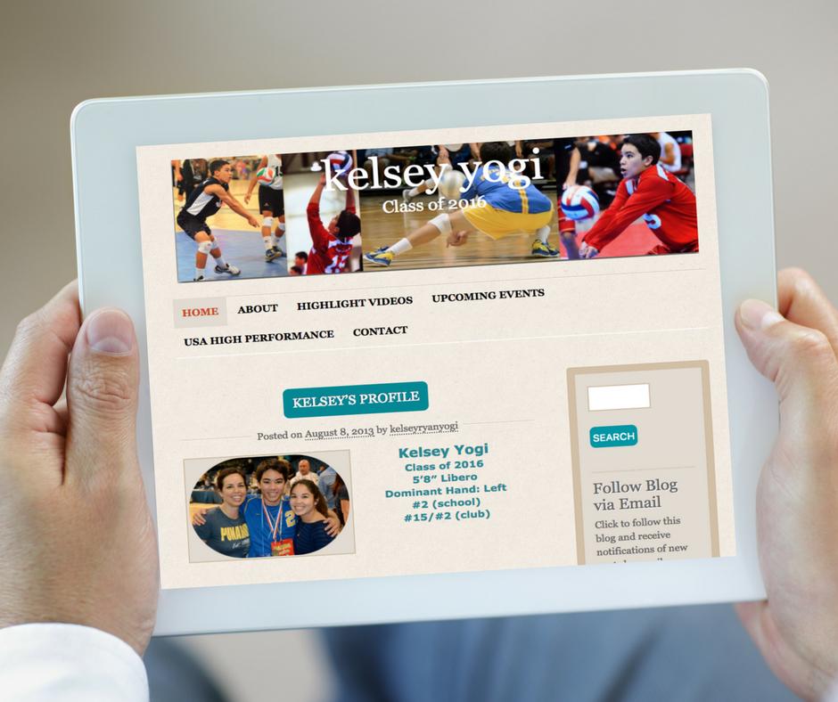 student athlete websites ipad