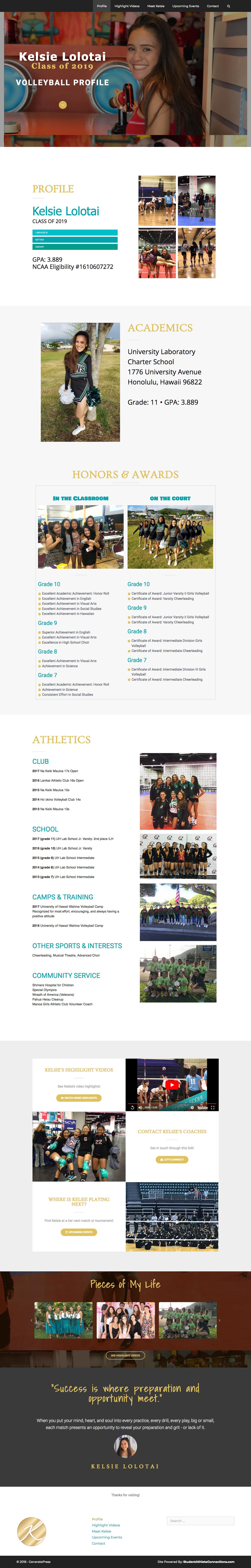 student athlete volleyball websites - kelsielolotai