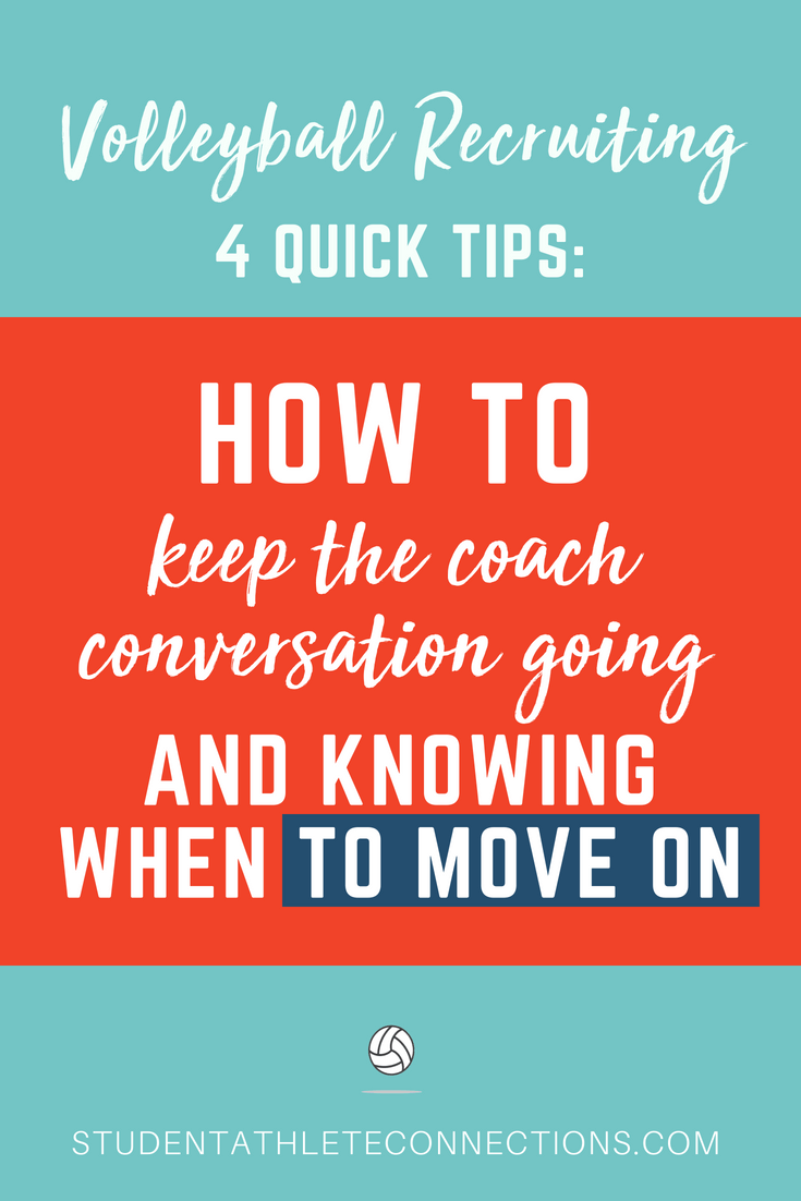 vb recruiting tips keep conversations going