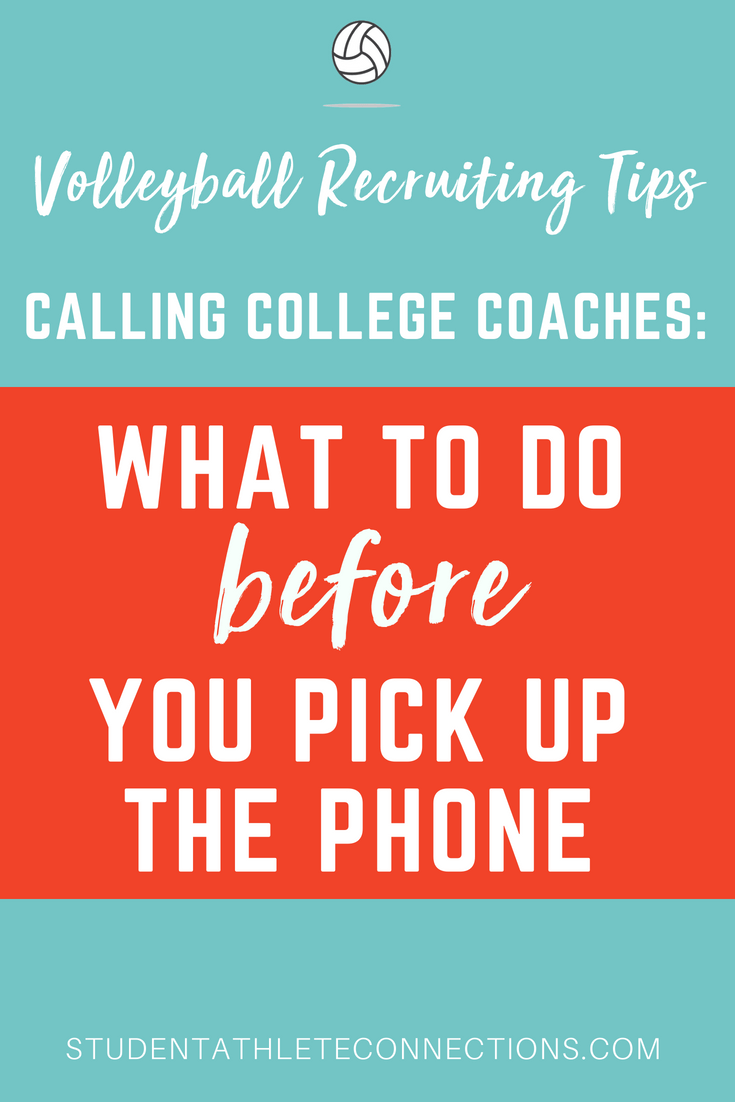 vb recruiting tips 4 tips before calling college coaches