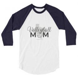 Texas Volleyball Mom | 3/4 sleeve raglan shirt