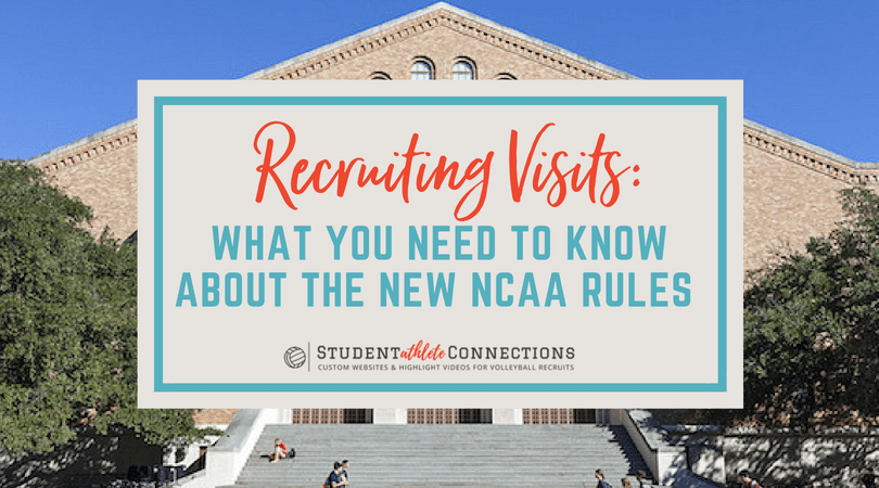 ncaa rules for recruiting visits