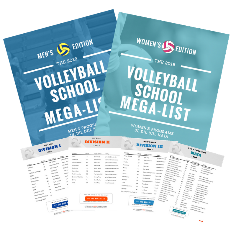 college volleyball schools megalist