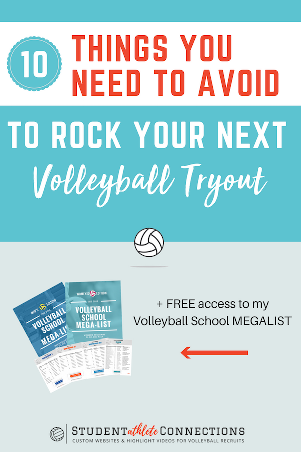 10 things to avoid to rock your volleyball tryouts