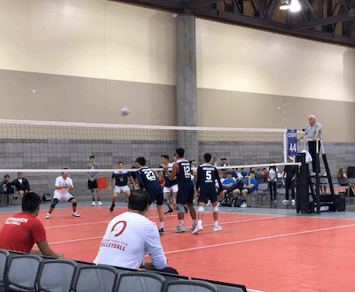 outrigger boys volleyball team at tournament