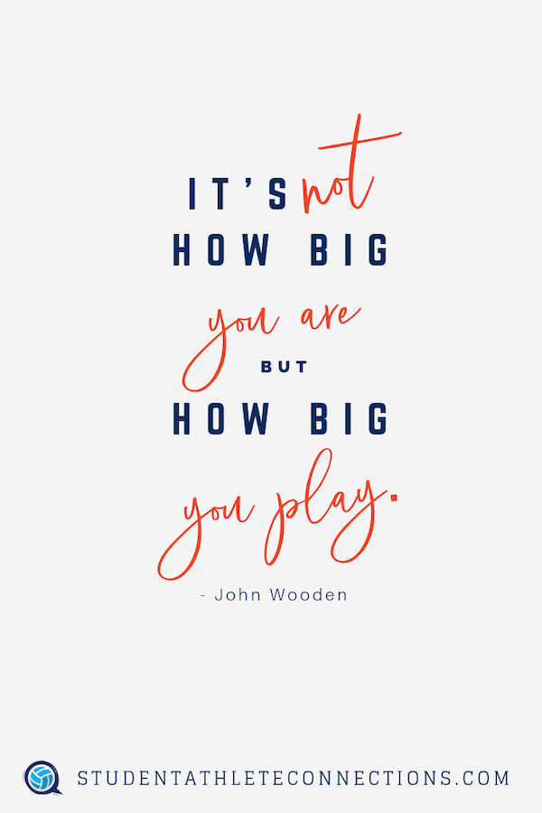 volleyball motivation quotes not how big