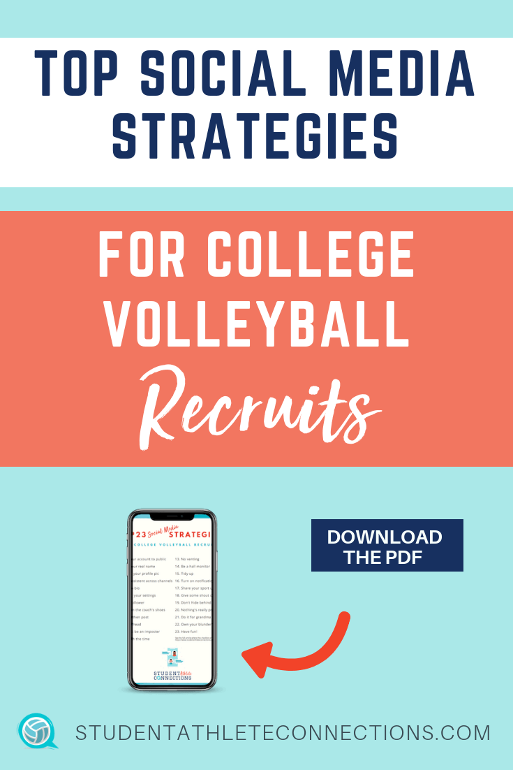 top social media strategies for college vball recruits