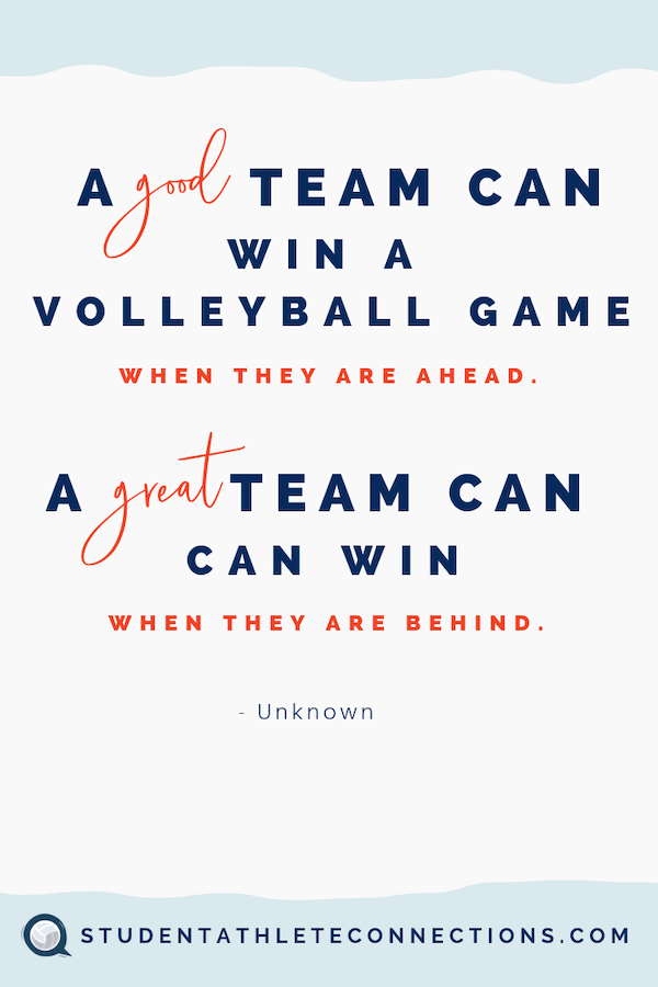 volleyball motivation quotes good team great team