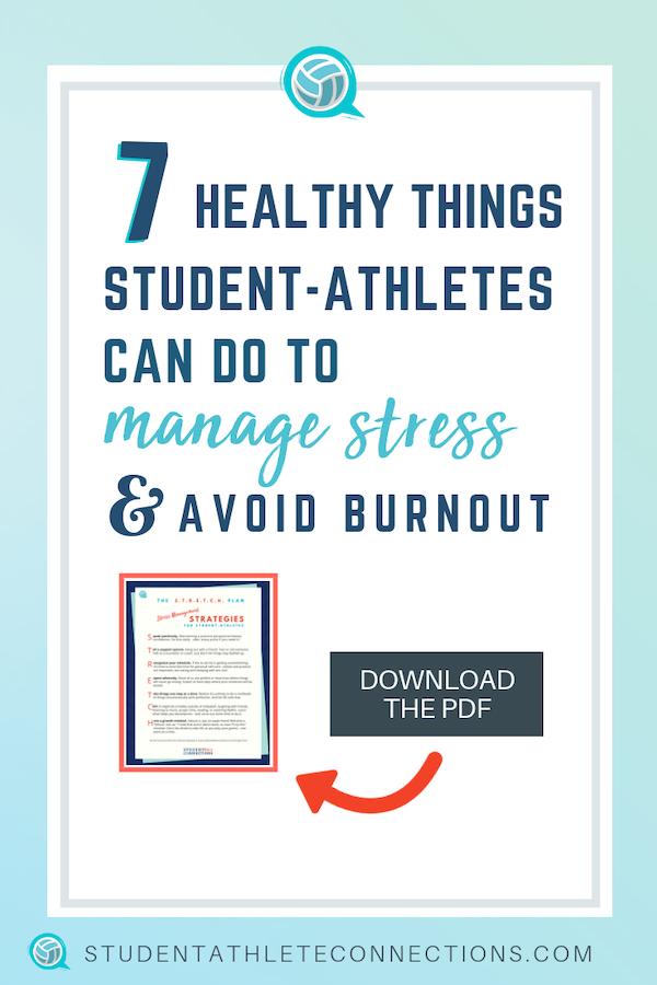 student-athlete stress management-pin