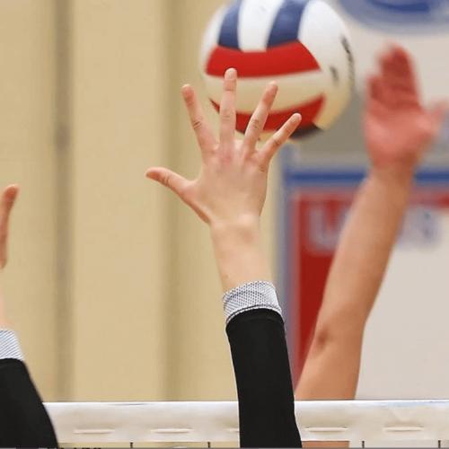 volleyball girl blocking